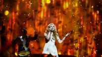 Emmelie De Forest of Denmark performs during the final of the 2013 Eurovision Song Contest in Malmo