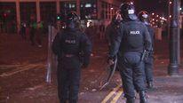 Riot police in Belfast