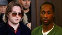 Raffaele Sollecito (L) and Rudy Guede (R)