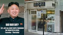 Kim Jong-un hair poster