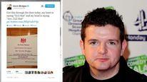 Kevin Bridges and his tweet