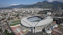 Aerial view of the Joao Havelange Olympic Stadium