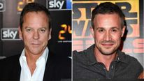 A composite image of Keifer Sutherland and Freddie Prinze Jr.