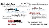 Thatcher headlines from around the world