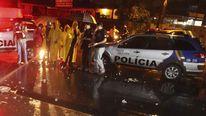 A football fan was killed when he was struck by a toilet bowl in Brazil