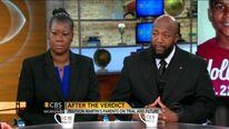 Travyon Martin parents. Pic: CBSNews