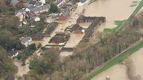Flooding St Asaph North Wales