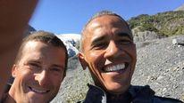 Barack Obama (R) and Bear Grylls