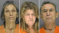 Volusia county corrections mugashots of (L to R ) Jeanette Morris, Joan Hobart and Harold Anderson.