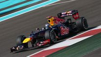 Sebastian Vettel Driving In Abu Dhabi