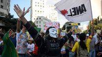 Protests over Brazil's hosting of the World Cup