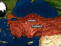 A map of Turkey.
