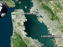 San Mateo bridge map