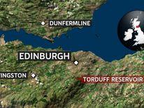 A map showing the location of Torduff Reservoir, Edinburgh