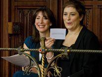 Sarah Vine with Samantha Cameron