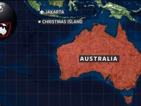 A map of Christmas Island, near Australia