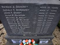 View of a memorial in Londonderry