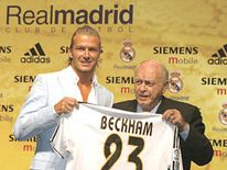 pgdavid beckham&fredo Di Stefanoreal madrid shirt