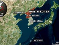 The rocket was launched in northwest North Korea and passed over Japan's Okinawa.