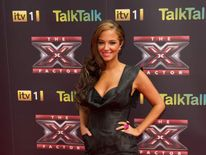 Tulisa Contostavlos at an X Factor photocall