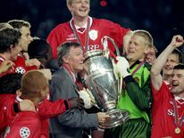 Alex Ferguson and Peter Schmeichel