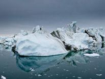 Sediment-streaked iceberg, Disko Bay, Greenland. Photo Ian Joughin