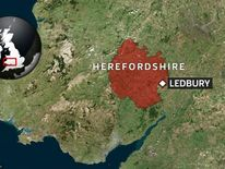 A map showing the location of Ledbury, Herefordshire