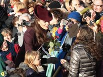 Duchess of Cambridge at Sandringham Church Christmas