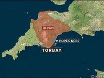 The tug is stricken off the Devon coast