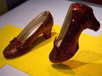 Ruby slippers worn by actress Judy Garland in the character of Dorothy