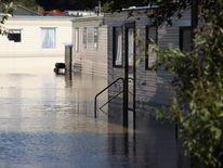 Flash flooding in Aberystwyth, Wales