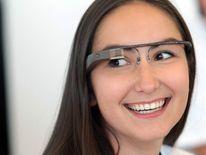 A Google employee wears the Google Glass