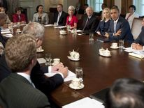 US President Barack Obama and cabinet
