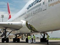 Hole In The Quantas 747 Aircraft