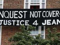 Banner calls for justice for Jean Charles de Menezes