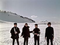 Beatles at filming of second film Help! in Obertauern, Austria