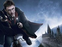 An artist's illustration of the new Harry Potter theme park at Universal Studios in Florida