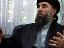 Exiled former Afghan Prime Minister Gulbuddin Hekmatyar in Tehran on Febuary 5, 2002.