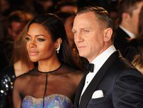 Daniel Craig And Naomie Harris At Skyfall Premiere