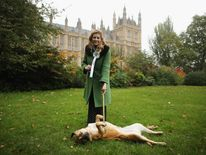 Penny Mordaunt MP and her dog at The Westminister Dog Of The Year Competition 2012