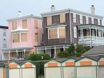 Boarded up homes await Hurricane Sandy