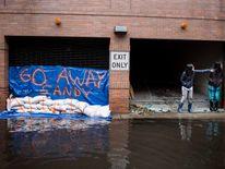 Flooded US city of Hoboken after Superstorm Sandy