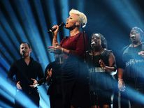 Emeli Sande performs at the MOBO Awards in November 2012