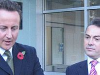 Conservative MP David Ruffley with David Cameron at West Suffolk hospital