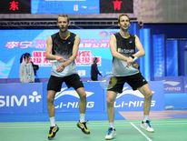 Danish badminton stars Carsten Mogensen and Mathias Boe do the Gangnam Style horse-riding dance