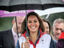 The Duchess was an Olympic ambassador for London 2012.