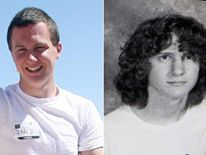 A man identified as Jared L Loughner, at the 2010 Tucson Festival of Books in Tucson, in March, 2010 (L). 2006 Mountain View High School yearbook shows Jared L Loughner (R). COMP