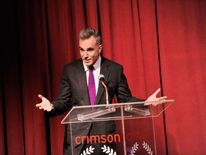 Daniel Day-Lewis at the New York Film Critics Circle Awards after winning best actor for Lincoln