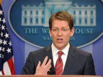 White House Press Secretary Jay Carney answers a question during a press briefing at the White House in Washington on May 9, 2011. the US said that it would not 'apologize' for launching a raid to kill al-Qaeda leader Osama bin Laden on Pakistani soil, after the Islamabad government complained about US 'unilateralism.'