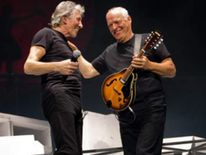 For one night only - Roger Waters and Dave Gilmour playing on stage